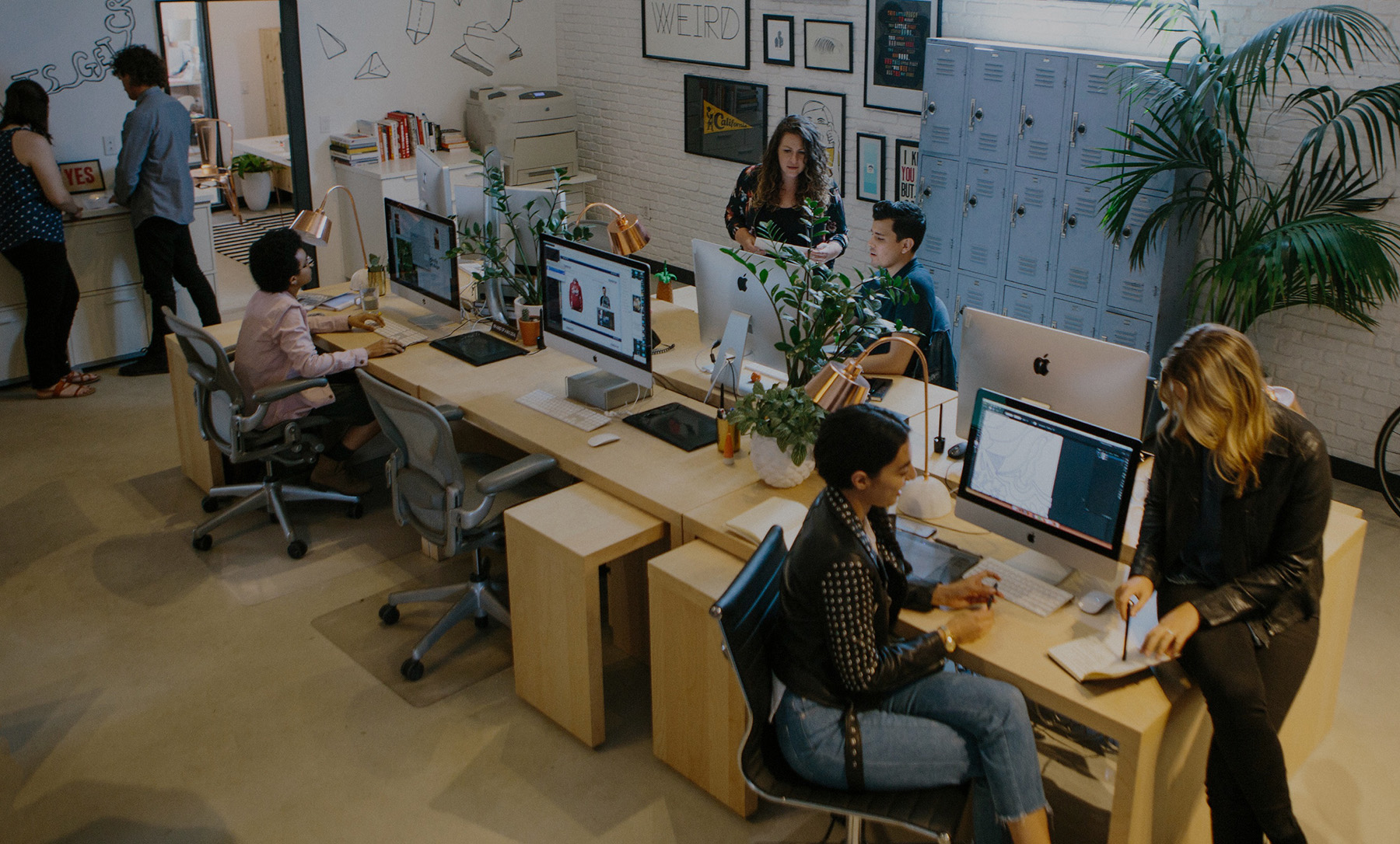 Clever Creative LA office bullpen full of designers